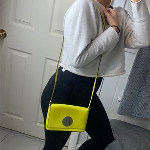 Kate Spade Neon Yellow night out purse